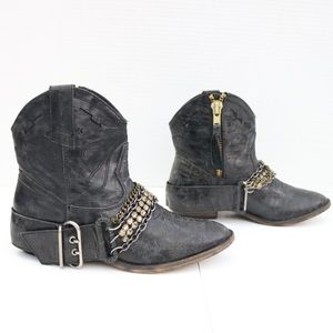 Steve Madden ankle cowboy boots size 7.5